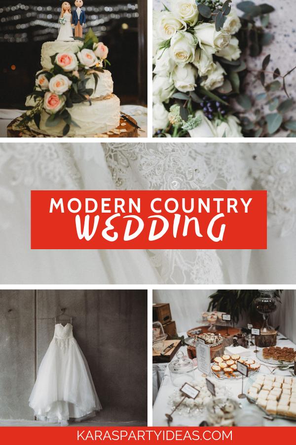 Modern Country Wedding via Kara's Party Ideas - KarasPartyIdeas.com.png