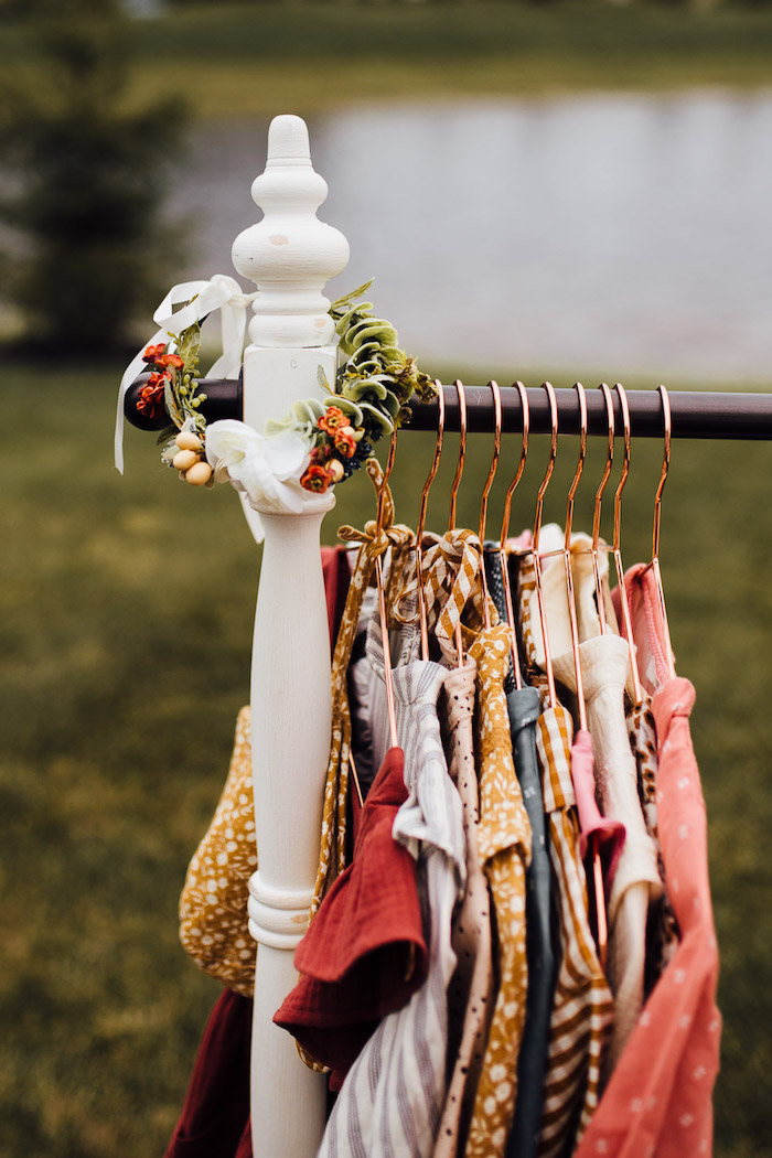 Prairie Girl Dress-up Station from a Modern Rustic Prairie Girl Party on Kara's Party Ideas | KarasPartyIdeas.com (38)
