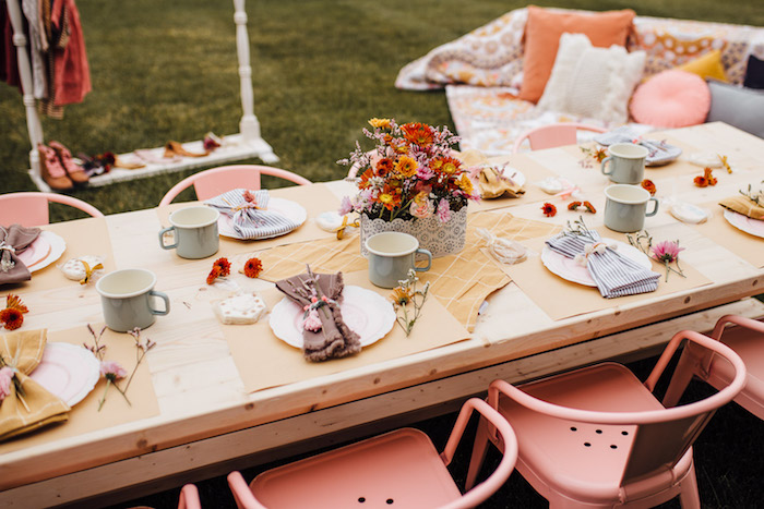 Prairie Girl Party Table from a Modern Rustic Prairie Girl Party on Kara's Party Ideas | KarasPartyIdeas.com (37)