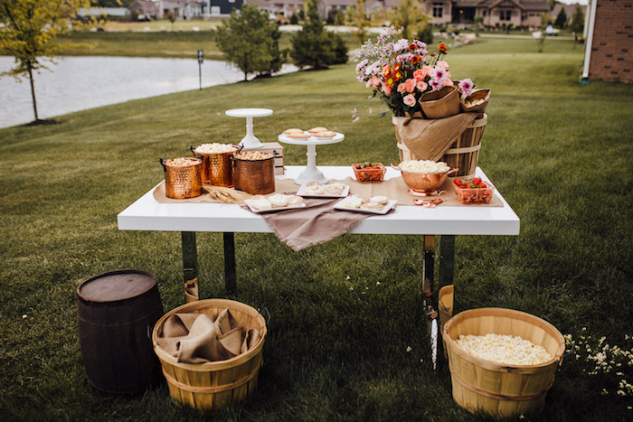 Prairie-inspired Food & Snack Table from a Modern Rustic Prairie Girl Party on Kara's Party Ideas | KarasPartyIdeas.com (36)