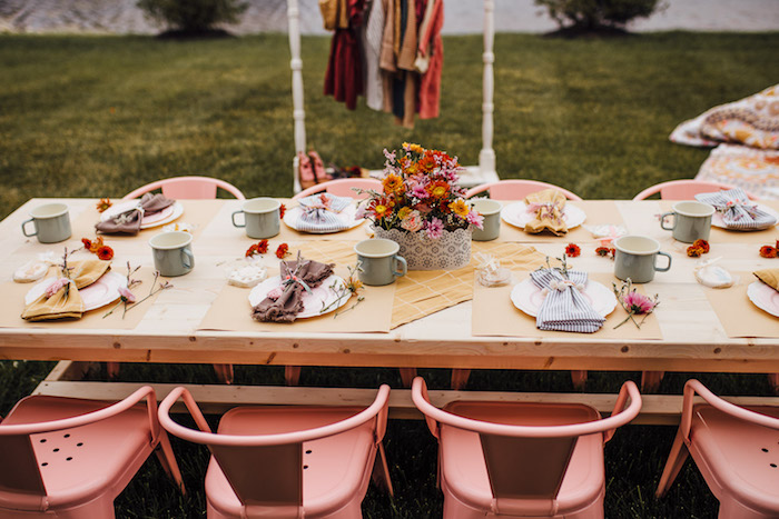 Prairie Themed Party + Kid Table from a Modern Rustic Prairie Girl Party on Kara's Party Ideas | KarasPartyIdeas.com (35)
