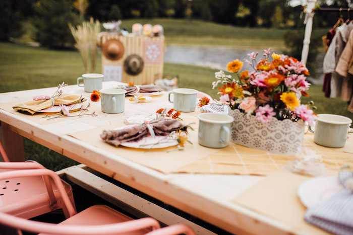 Prairie Girl Party + Kid Table from a Modern Rustic Prairie Girl Party on Kara's Party Ideas | KarasPartyIdeas.com (32)