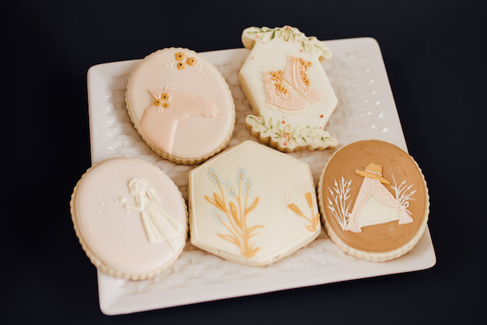 Prairie Themed Sugar Cookies from a Modern Rustic Prairie Girl Party on Kara's Party Ideas | KarasPartyIdeas.com (29)