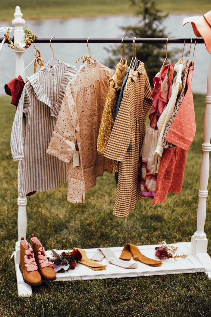 Prairie Girl Dress-up Station from a Modern Rustic Prairie Girl Party on Kara's Party Ideas | KarasPartyIdeas.com (28)