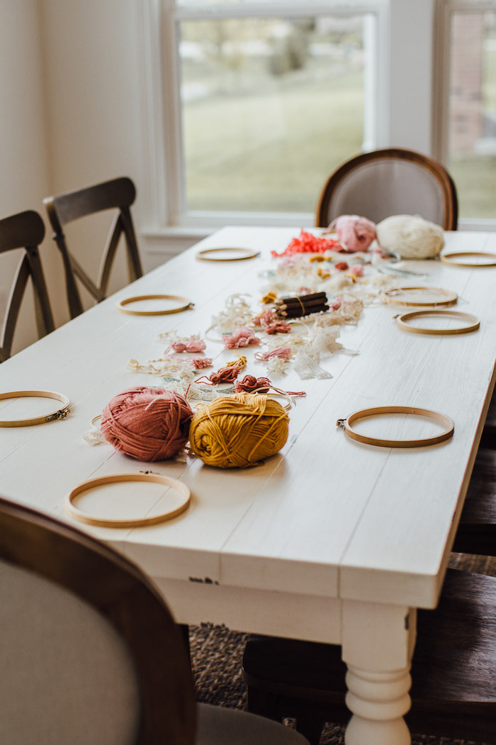 Dreamcatcher + Craft Table from a Modern Rustic Prairie Girl Party on Kara's Party Ideas | KarasPartyIdeas.com (25)
