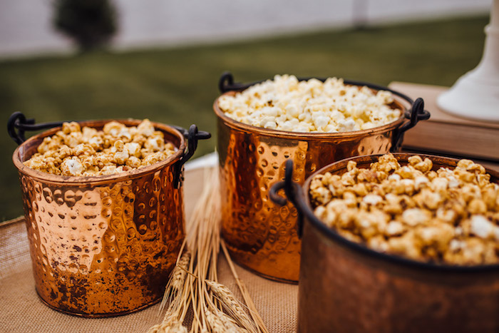 Popcorn Bar from a Modern Rustic Prairie Girl Party on Kara's Party Ideas | KarasPartyIdeas.com (23)
