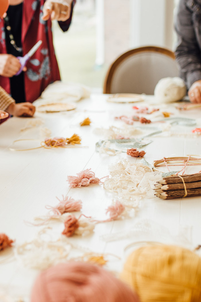 Dreamcatcher + Craft Table from a Modern Rustic Prairie Girl Party on Kara's Party Ideas | KarasPartyIdeas.com (22)