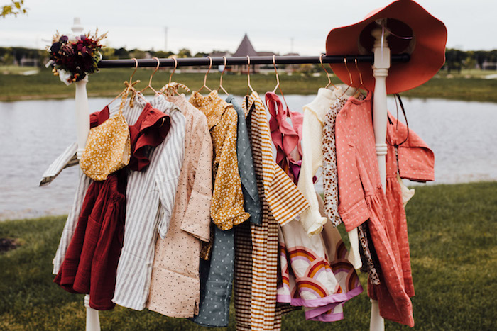 Prairie Dress-up Station from a Modern Rustic Prairie Girl Party on Kara's Party Ideas | KarasPartyIdeas.com (49)