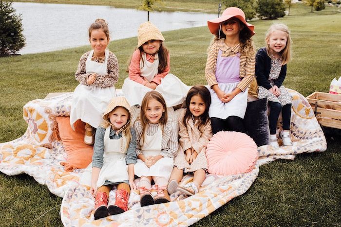 Little Prairie Girls from a Modern Rustic Prairie Girl Party on Kara's Party Ideas | KarasPartyIdeas.com (17)