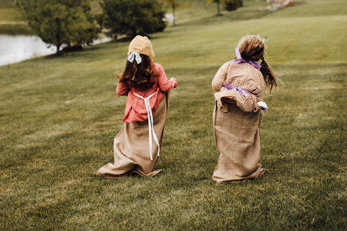 Sack Race from a Modern Rustic Prairie Girl Party on Kara's Party Ideas | KarasPartyIdeas.com (16)