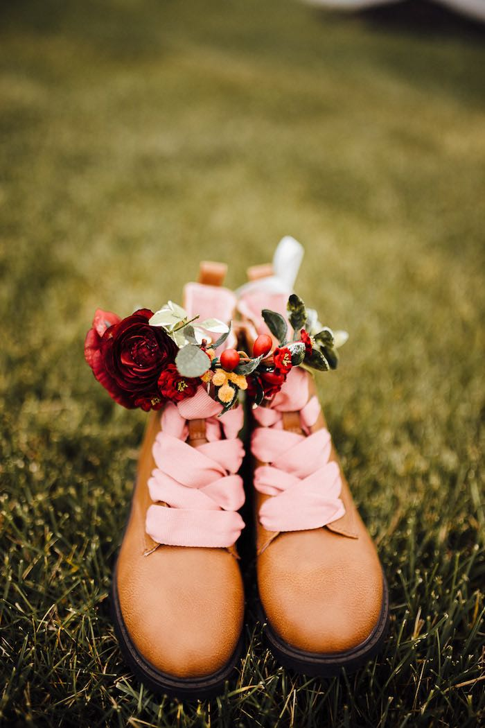 Prairie Shoes from a Modern Rustic Prairie Girl Party on Kara's Party Ideas | KarasPartyIdeas.com (48)