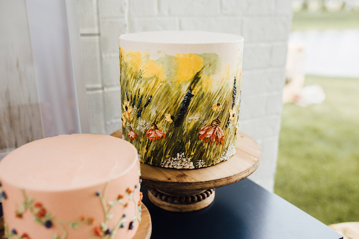 Painted Prairie Cake from a Modern Rustic Prairie Girl Party on Kara's Party Ideas | KarasPartyIdeas.com (11)