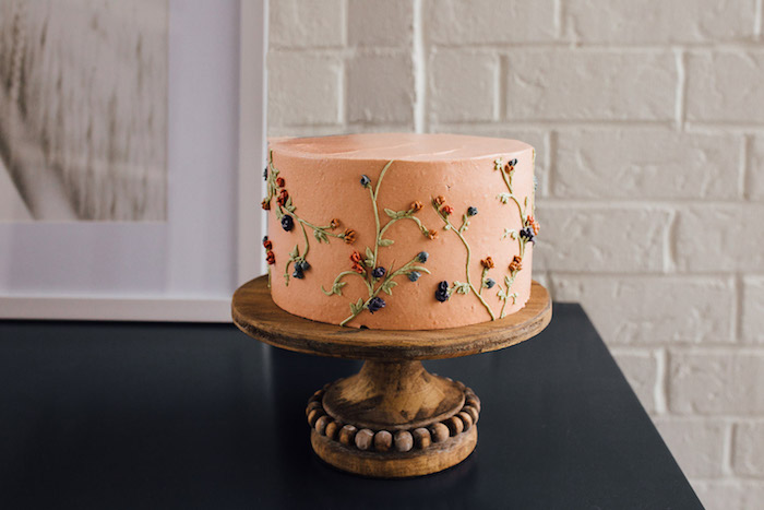 Wildflower Cake from a Modern Rustic Prairie Girl Party on Kara's Party Ideas | KarasPartyIdeas.com (10)