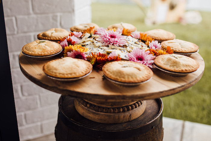 Mini Pies & Flowers from a Modern Rustic Prairie Girl Party on Kara's Party Ideas | KarasPartyIdeas.com (7)