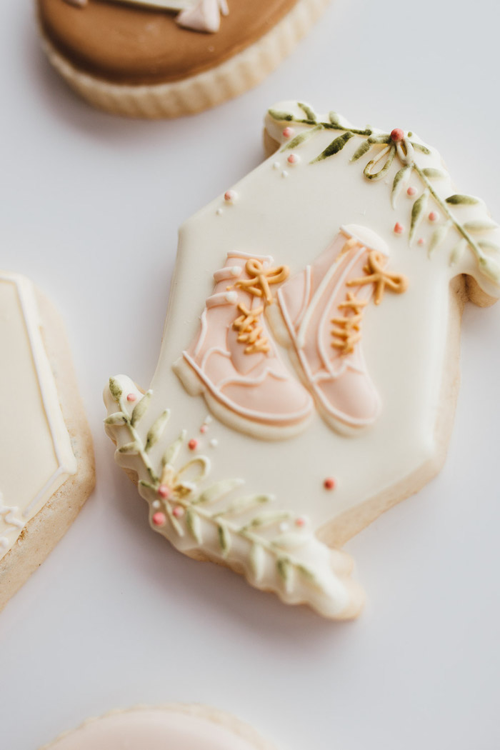 Prairie Shoes Cookie from a Modern Rustic Prairie Girl Party on Kara's Party Ideas | KarasPartyIdeas.com (46)