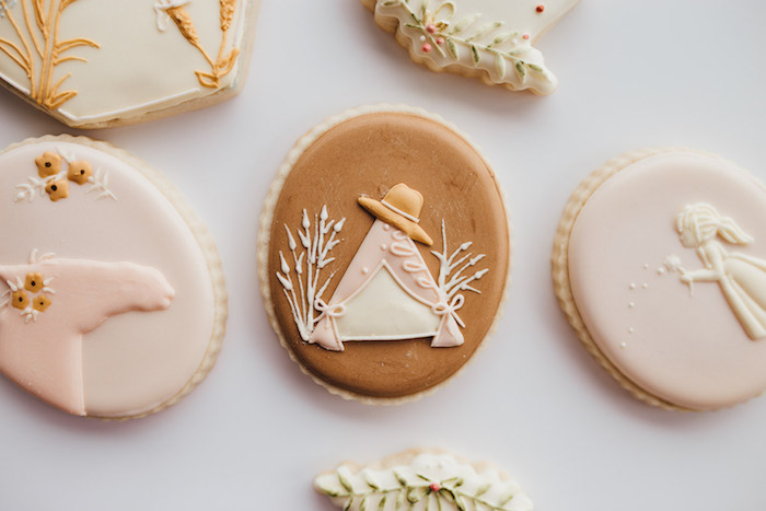Prairie Girl Themed Sugar Cookies from a Modern Rustic Prairie Girl Party on Kara's Party Ideas | KarasPartyIdeas.com (45)