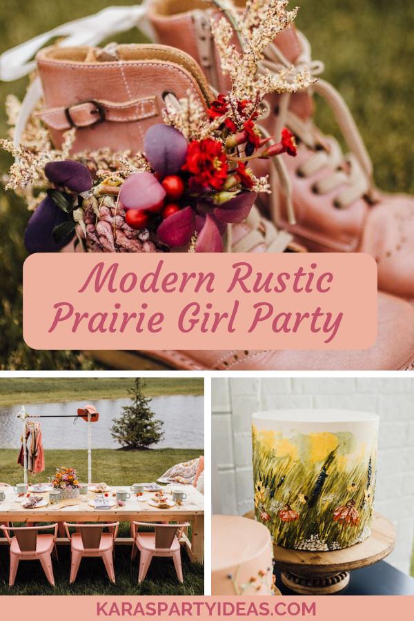 Modern Rustic Prairie Girl Party via KarasPartyIdeas - KarasPartyIdeas.com