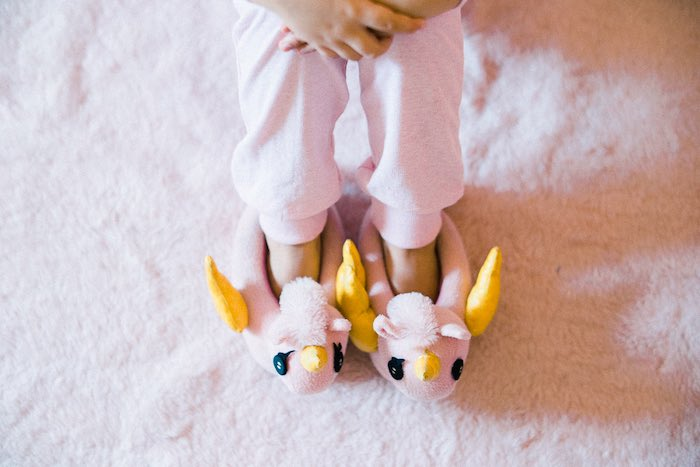 Bird Slippers from a Pajama Slumber Party on Kara's Party Ideas | KarasPartyIdeas.com (15)