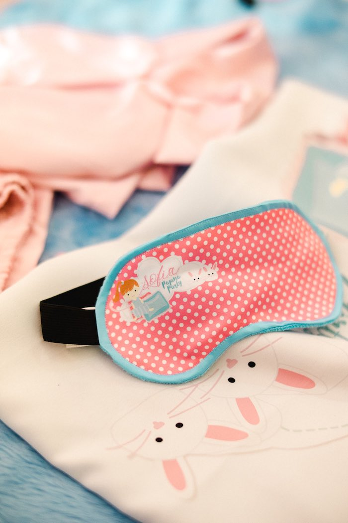 Custom Polkadot Sleep Mask from a Pajama Slumber Party on Kara's Party Ideas | KarasPartyIdeas.com (11)