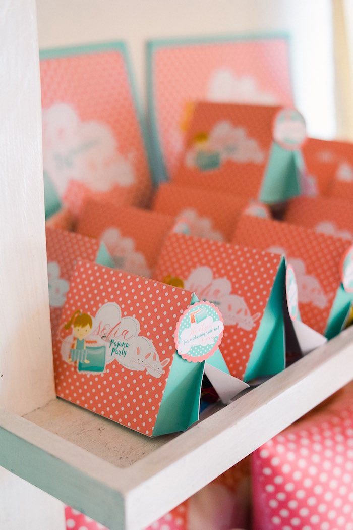 Tent Favor Boxes from a Pajama Slumber Party on Kara's Party Ideas | KarasPartyIdeas.com (22)
