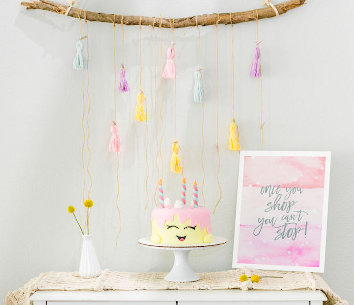 Shopkins Cake Table from a Pastel Shopkins Birthday Party on Kara's Party Ideas | KarasPartyIdeas.com (13)