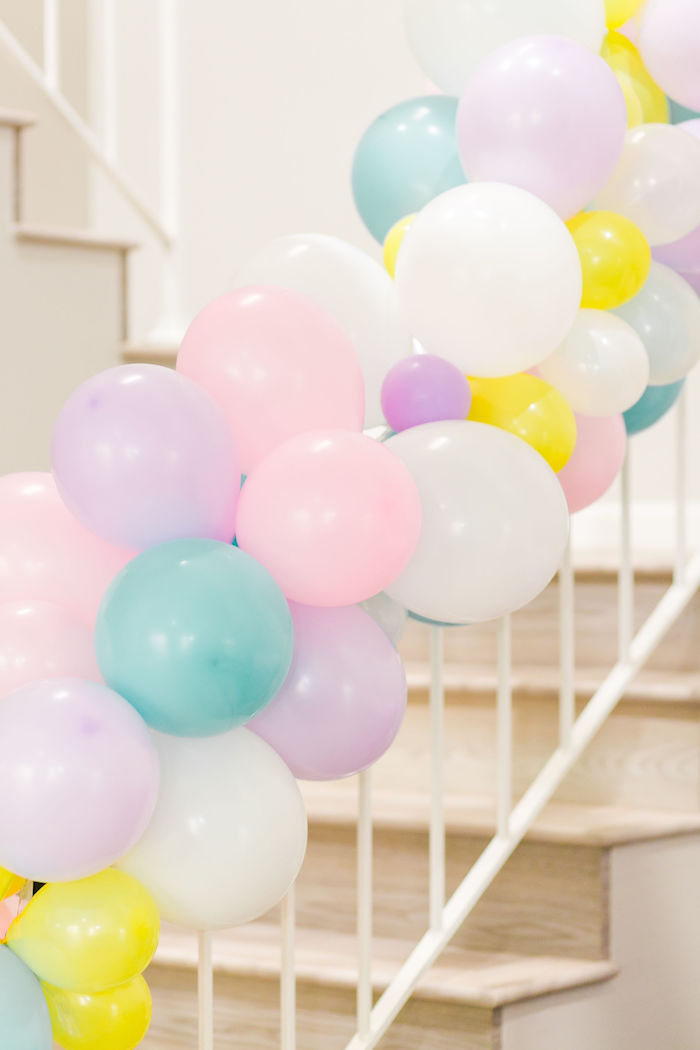 Pastel Balloon Garland from a Pastel Shopkins Birthday Party on Kara's Party Ideas | KarasPartyIdeas.com (12)