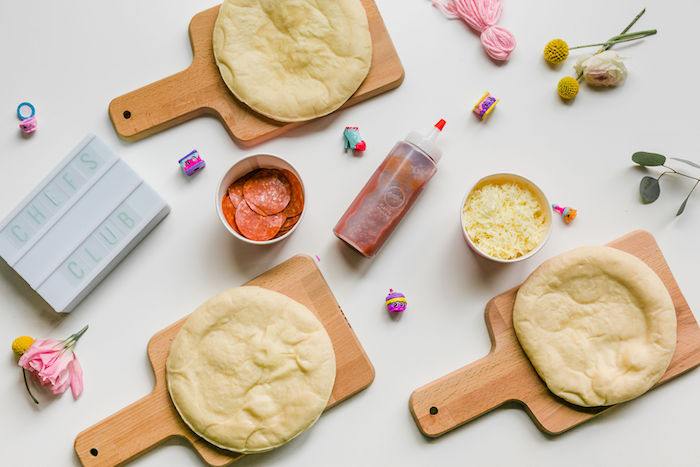 Mini Pizza Crafting Station from a Pastel Shopkins Birthday Party on Kara's Party Ideas | KarasPartyIdeas.com (10)