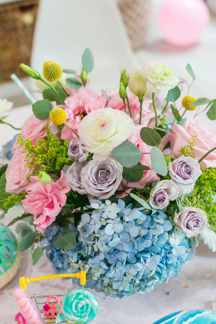 Pastel Blooms from a Pastel Shopkins Birthday Party on Kara's Party Ideas | KarasPartyIdeas.com (24)