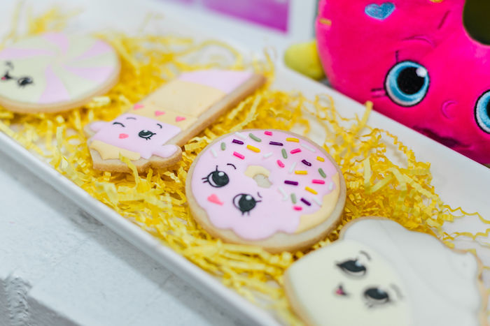 Shopkins Cookies from a Pastel Shopkins Birthday Party on Kara's Party Ideas | KarasPartyIdeas.com (18)