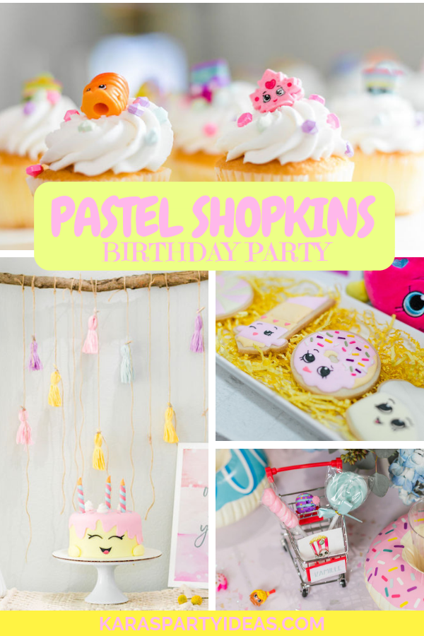 Pastel Shopkins Birthday Party via Kara's Party Ideas - KarasPartyIdeas.com