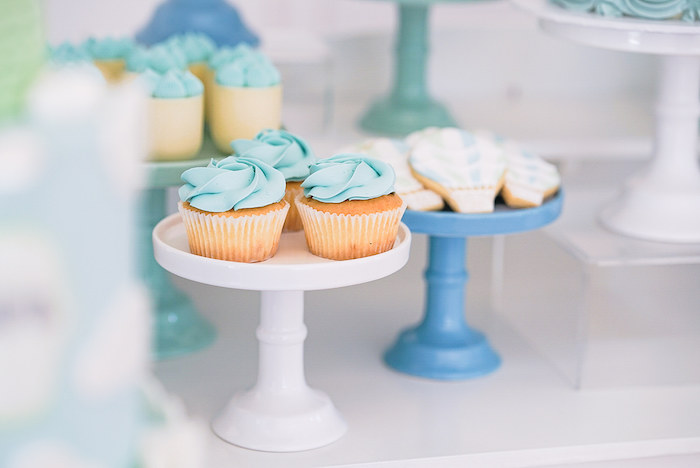 Blue Sky Cupcakes from a Pastel Up, Up & Away Birthday Party on Kara's Party Ideas | KarasPartyIdeas.com (19)