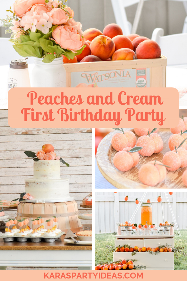 Peaches and Cream 1st Birthday Party via Kara's Party Ideas - KarasPartyIdeas.com