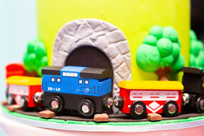 Train Cake from a Planes, Trains and Automobiles Birthday Party on Kara's Party Ideas | KarasPartyIdeas.com (20)