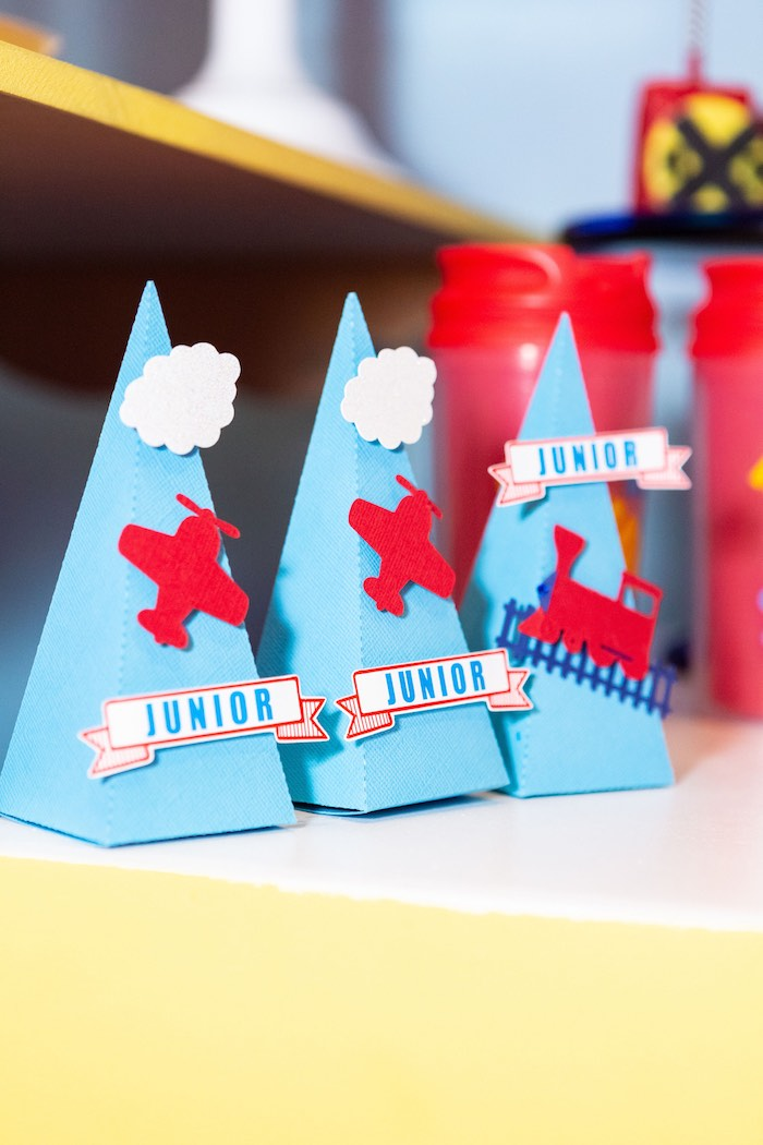 Favor Cones from a Planes, Trains and Automobiles Birthday Party on Kara's Party Ideas | KarasPartyIdeas.com (13)