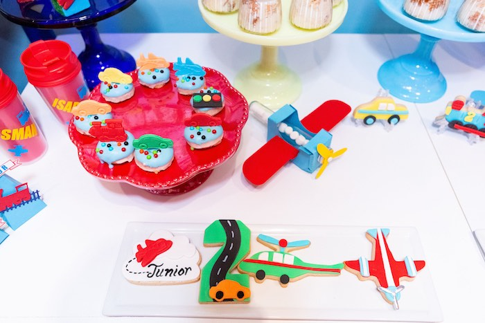Cookies + Sweets from a Planes, Trains and Automobiles Birthday Party on Kara's Party Ideas | KarasPartyIdeas.com (11)