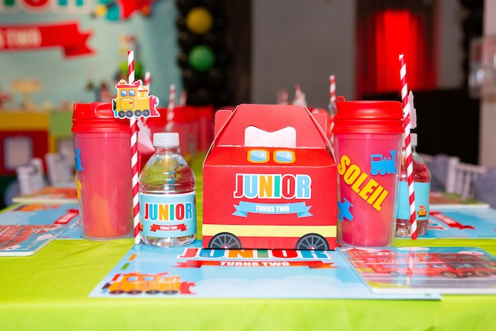 Adorable Gable Lunchbox Table Setting from a Planes, Trains and Automobiles Birthday Party on Kara's Party Ideas | KarasPartyIdeas.com (29)
