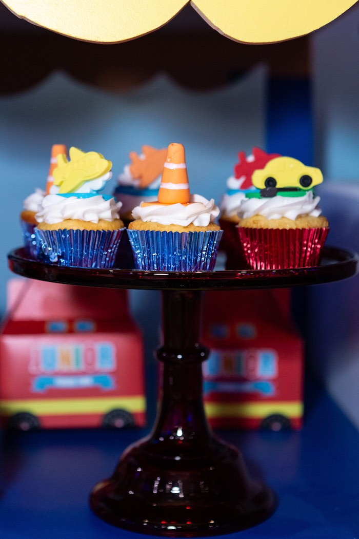 Transportation Cupcakes from a Planes, Trains and Automobiles Birthday Party on Kara's Party Ideas | KarasPartyIdeas.com (7)