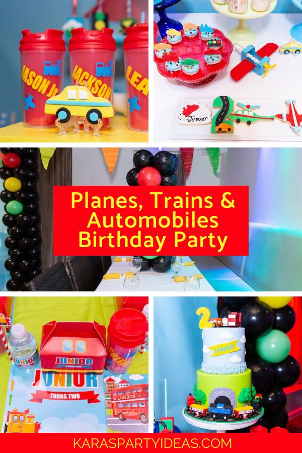 Planes, Trains & Automobiles Birthday Party via Kara's Party Ideas - KarasPartyIdeas.com