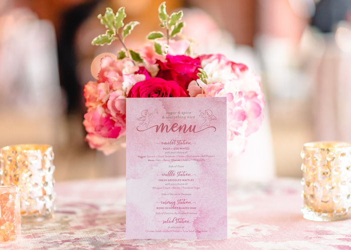 Menu Card from a Pretty in Pink Baby Shower on Kara's Party Ideas | KarasPartyIdeas.com (12)