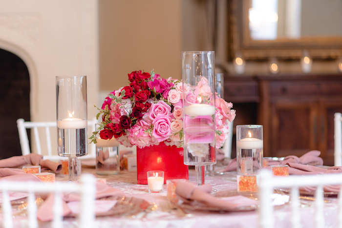 Elegant Guest Table from a Pretty in Pink Baby Shower on Kara's Party Ideas | KarasPartyIdeas.com (6)
