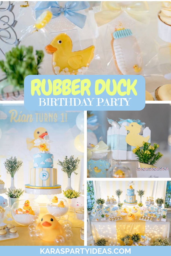 Rubber Duck Birthday Party via Kara's Party Ideas - KarasPartyIdeas.com