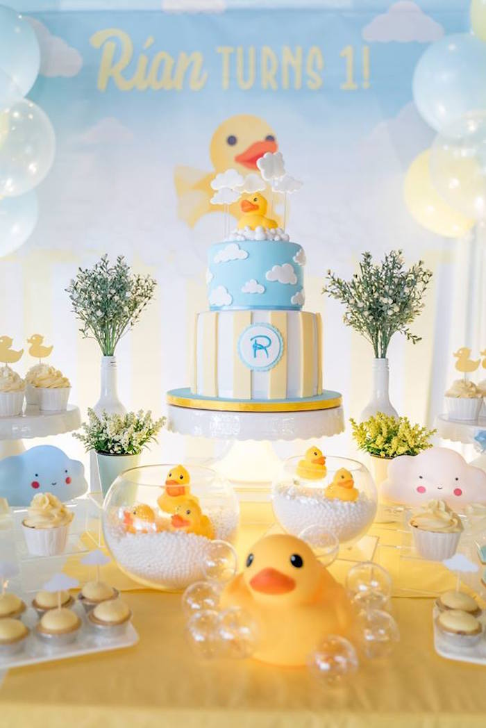 Rubber Duck Birthday Party on Kara's Party Ideas | KarasPartyIdeas.com (9)