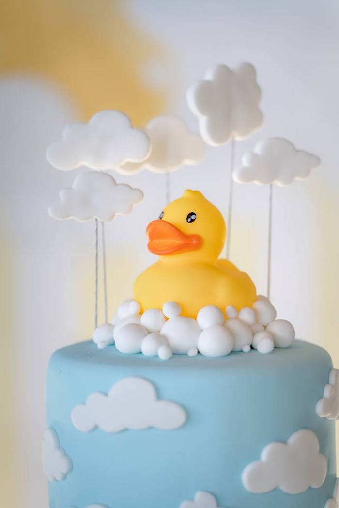 Rubber Duck Bubble Cake Topper from a Rubber Duck Birthday Party on Kara's Party Ideas | KarasPartyIdeas.com (8)