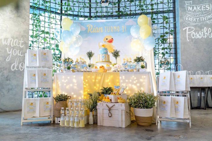 Rubber Duck Birthday Party on Kara's Party Ideas | KarasPartyIdeas.com (6)
