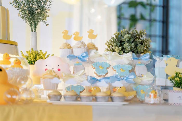 Rubber Duck Themed Dessert Table + Sweets from a Rubber Duck Birthday Party on Kara's Party Ideas | KarasPartyIdeas.com (5)