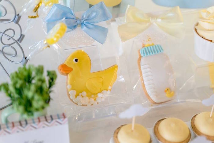 Rubber Duck-inspired Sugar Cookies from a Rubber Duck Birthday Party on Kara's Party Ideas | KarasPartyIdeas.com (3)