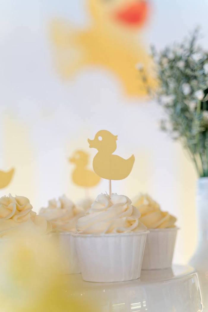Duck Cupcakes from a Rubber Duck Birthday Party on Kara's Party Ideas | KarasPartyIdeas.com (17)
