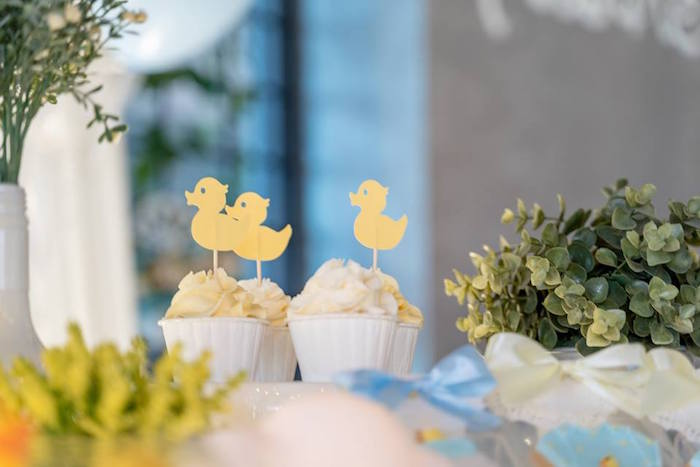 Rubber Duck Cupcakes from a Rubber Duck Birthday Party on Kara's Party Ideas | KarasPartyIdeas.com (16)