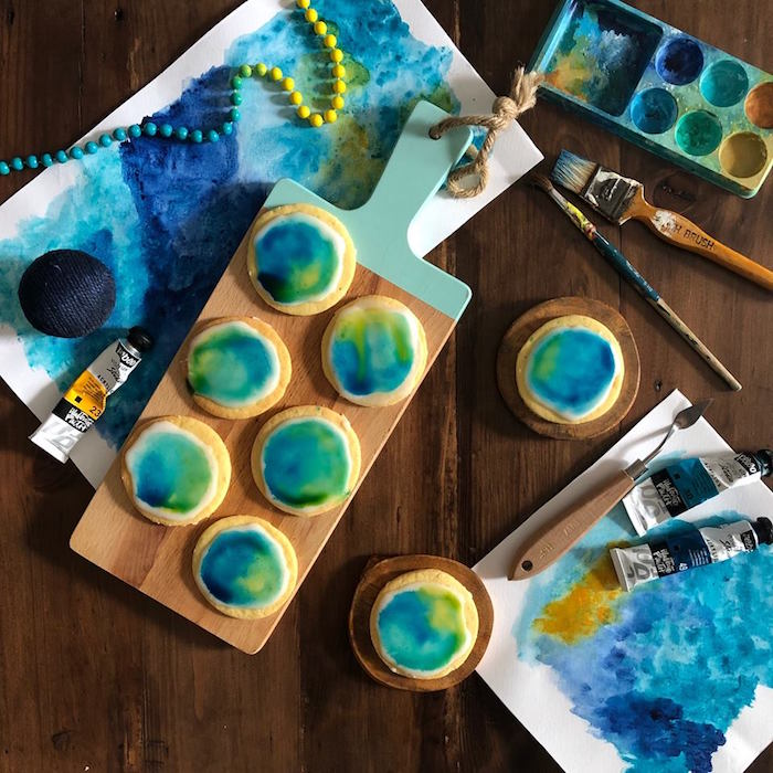 Starry Nights-inspired Art Cookies from a Rustic Art Birthday Party on Kara's Party Ideas | KarasPartyIdeas.com (20)