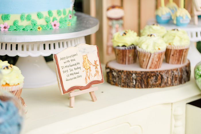Winnie the Pooh Storybook Cookie from a Rustic Chic Classic Winnie the Pooh Party on Kara's Party Ideas | KarasPartyIdeas.com (20)